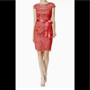 Adrianna Papell embroidered dress pink 2,4